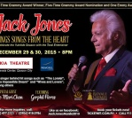 "Dec. 29 – 30, 2015 – ""Jack Jones Sings Songs from the Heart"", Manila, Philippines"